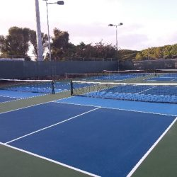 Pickleball Courts on Tennis Court