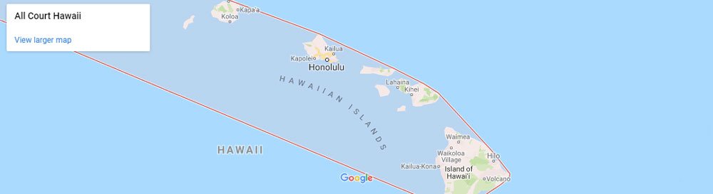 all court Hawaii map